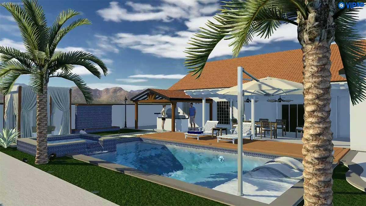 Backyard Design / Outdoor Living Design / Pool Design
